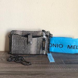 NWT Antonio Melani taupe snakeskin print crossbody